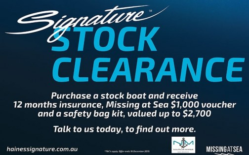 Signature stock clearance